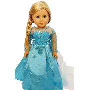 My Brittany's Elsa Inspired Dress for American Girl Dolls and My Life as Dolls- 18 Inch Doll Clothes