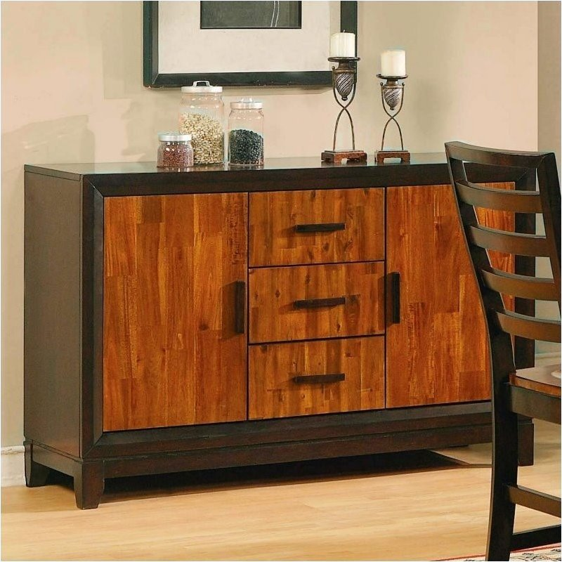 Bowery Hill Buffet Sideboard in Cherry and Mahogany