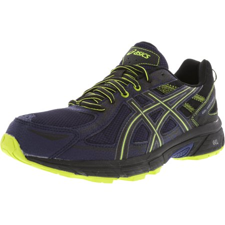 Asics Men's Gel-Venture 6 Indigo Blue / Black Energy Green Ankle-High Running Shoe - 12W