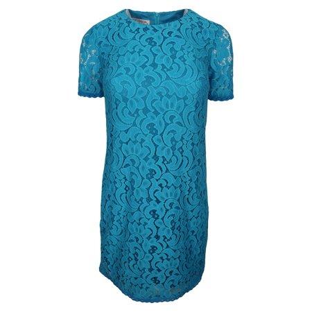 Maggy London Chiffon Dress - Maggy London Women's Blue Paisley Lace Mini Shift Dress