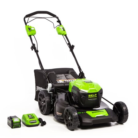 Greenworks 21-Inch 40V Self Propelled Mower 5Ah Battery and Quick Charger Included