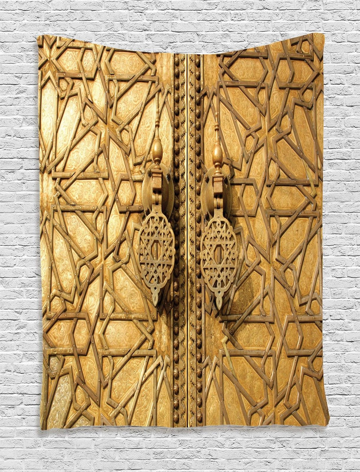 Moroccan Decor Wall Hanging Tapestry, Main Golden Gates Of Royal ...