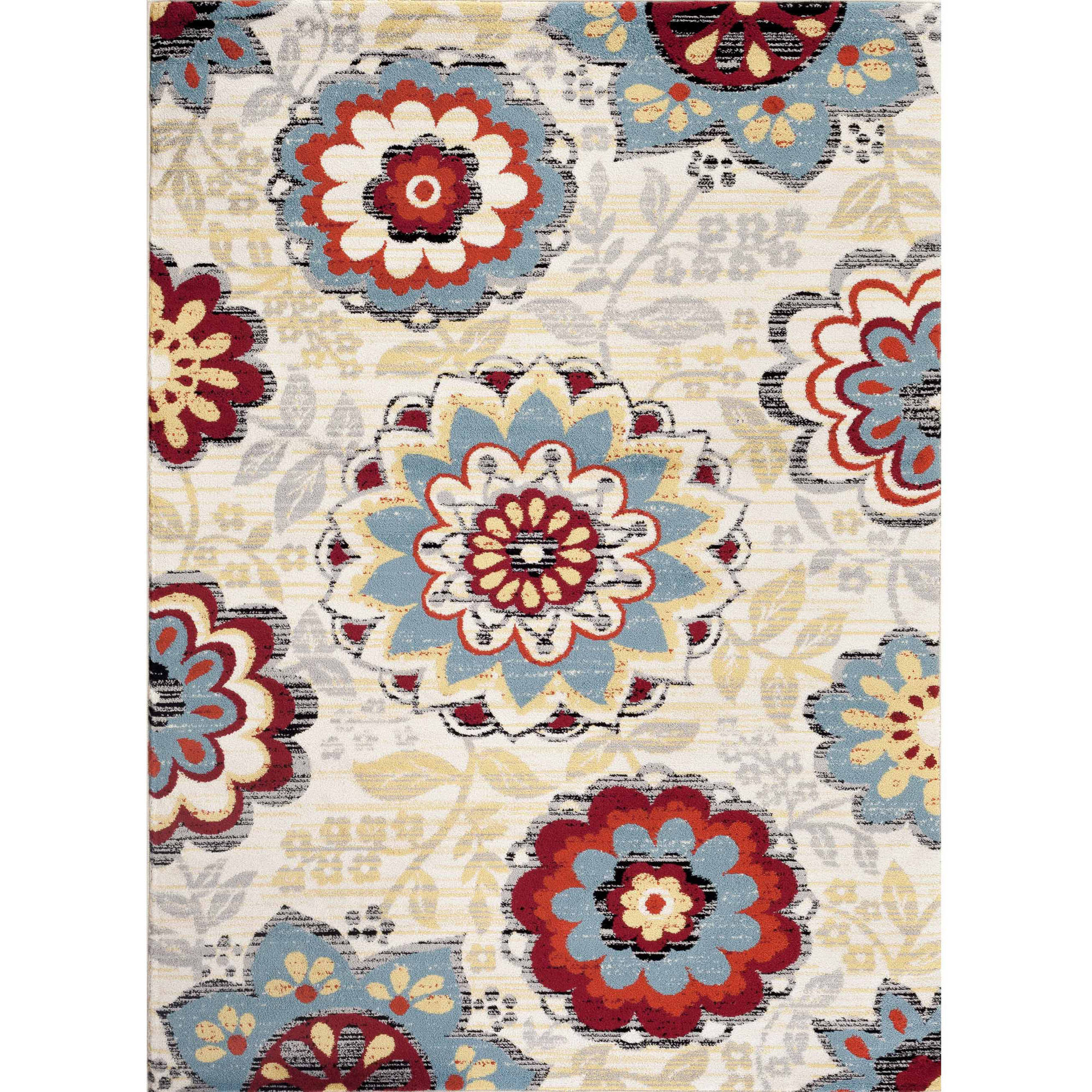 World Rug Gallery Transitional Large Floral Design Indoor Area Rug by World Rug Gallery
