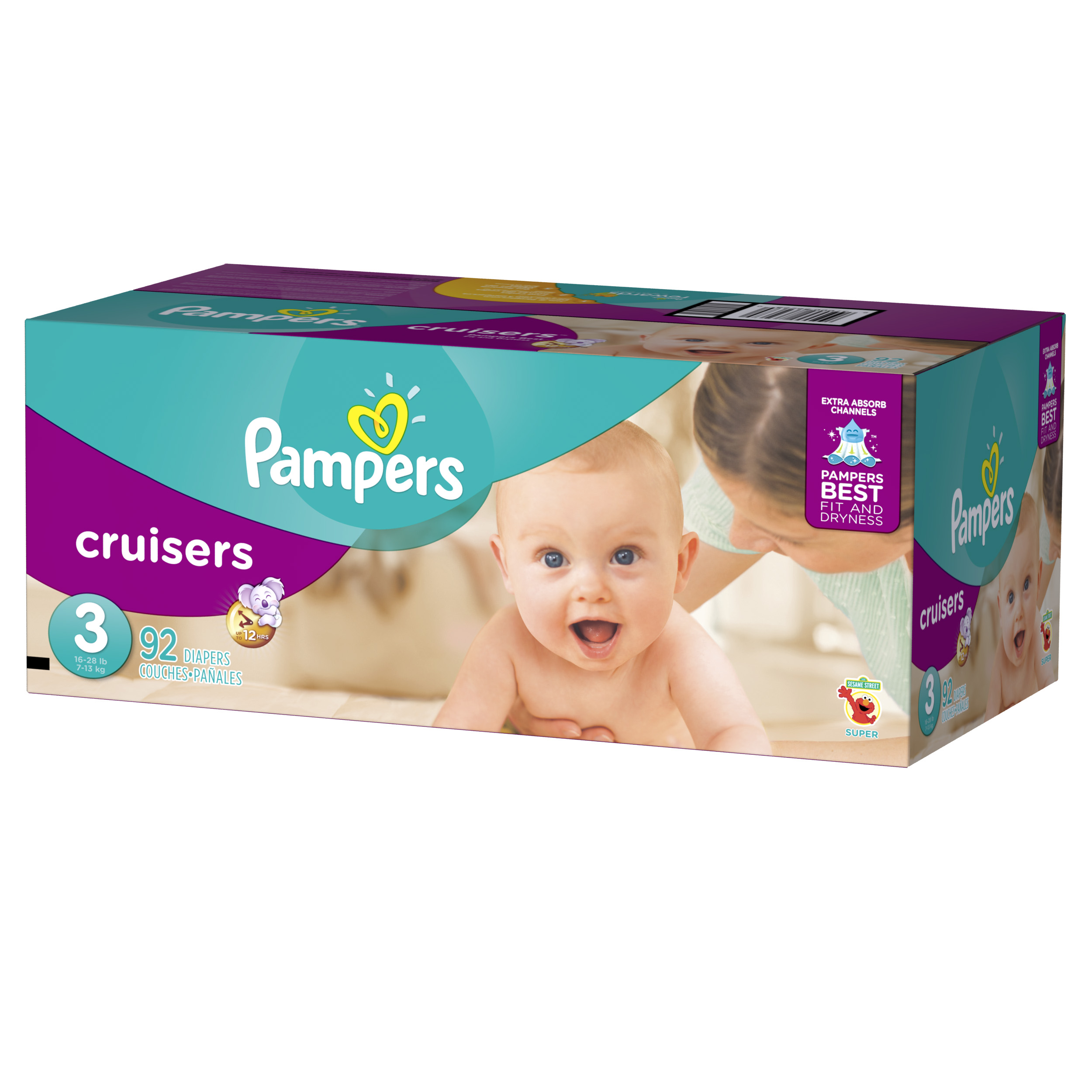 Pampers Cruisers Diapers Size 3 92 count