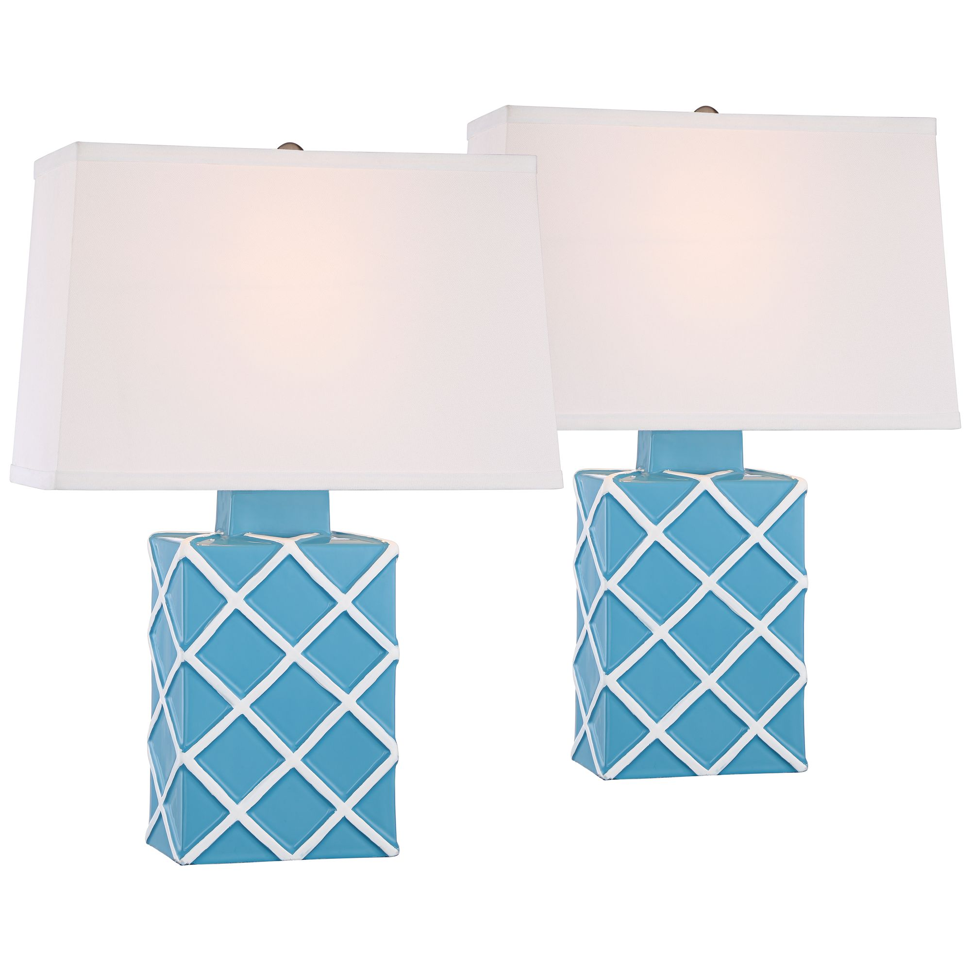 Accent Lighting Of Contemporary Table Lamps For Living: 360 Lighting Modern Accent Table Lamps Set Of 2 Ceramic