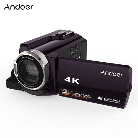 Digital 3 Chip (Andoer HDV-534K 4K 48MP WiFi Digital Video Camera 1080P Full HD Novatek 96660 Chip 3inch Capacitive Touchscreen IR Infrared Night Sight Support 16X Zoom Face Detect)