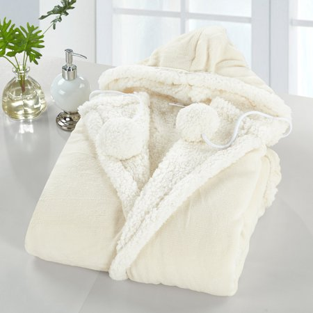 Chic Home Reyn Snuggle Hoodie Luxury Wearable Blanket, Beige](Snow Blankets)