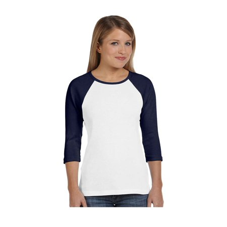 Bella Canvas Women's 3/4 Sleeve Contrast Raglan T-Shirt, Style B2000