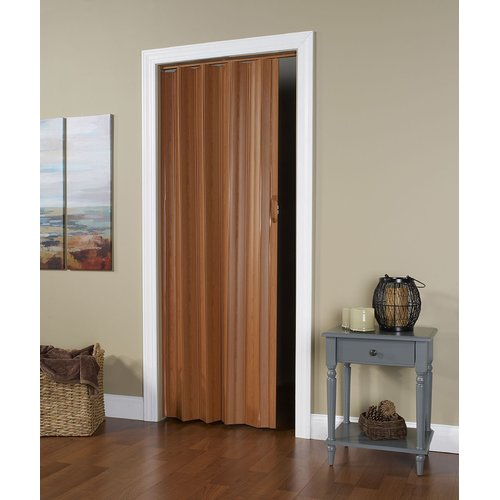 "HomeStyles Regent Vinyl Accordion Door, 36"" x 80"", Fruitwood"