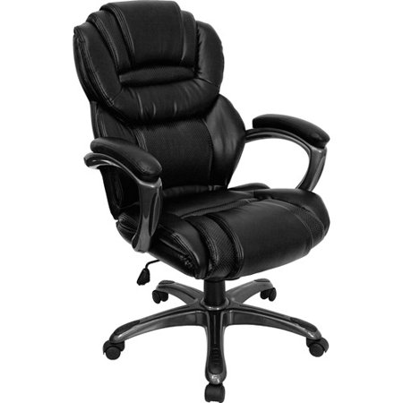 Flash Furniture Leather Executive Office Chair With Padded