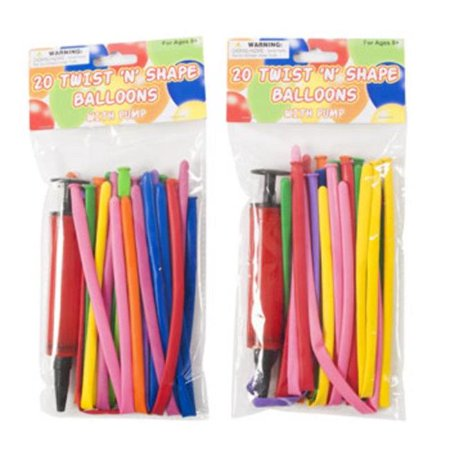 DDI 2330716 Balloon Twist & Shape, Assorted Color - 20 Count - Case of 36