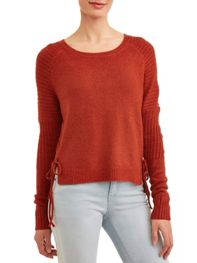 73b11044d1 Product Image Women s Crewneck Sweater with Side-Tie Detail
