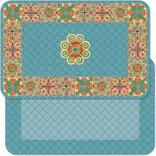 CounterArt Reversible Placemat, Gypsy Quatrefoil