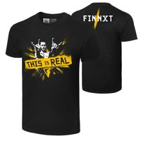 "Official WWE Authentic Finn Balor ""This is Real"" T-Shirt Black Small"