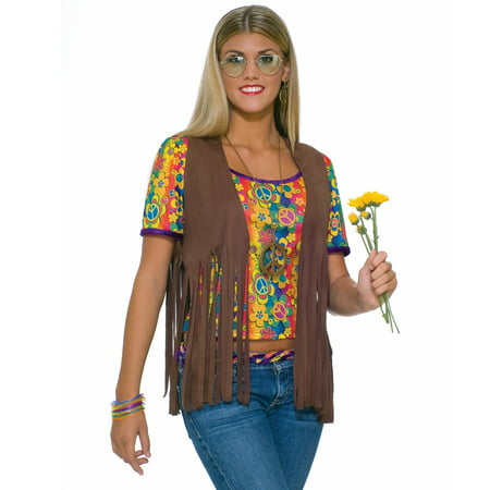 Women's Sexy Hippie Vest Costume - Last Minute Hippie Halloween Costume