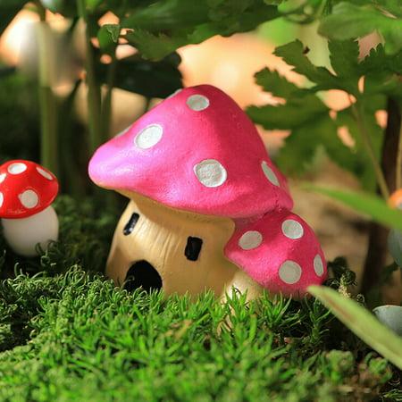 fashionhome Mushroom House Garden Ornament Resin Figurine Decor - image 7 of 8