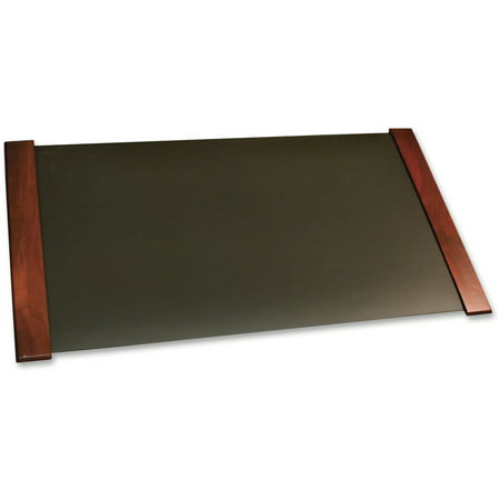Carver Desk Pad with Wood End Panels, 38 x 21, Mahogany Finish