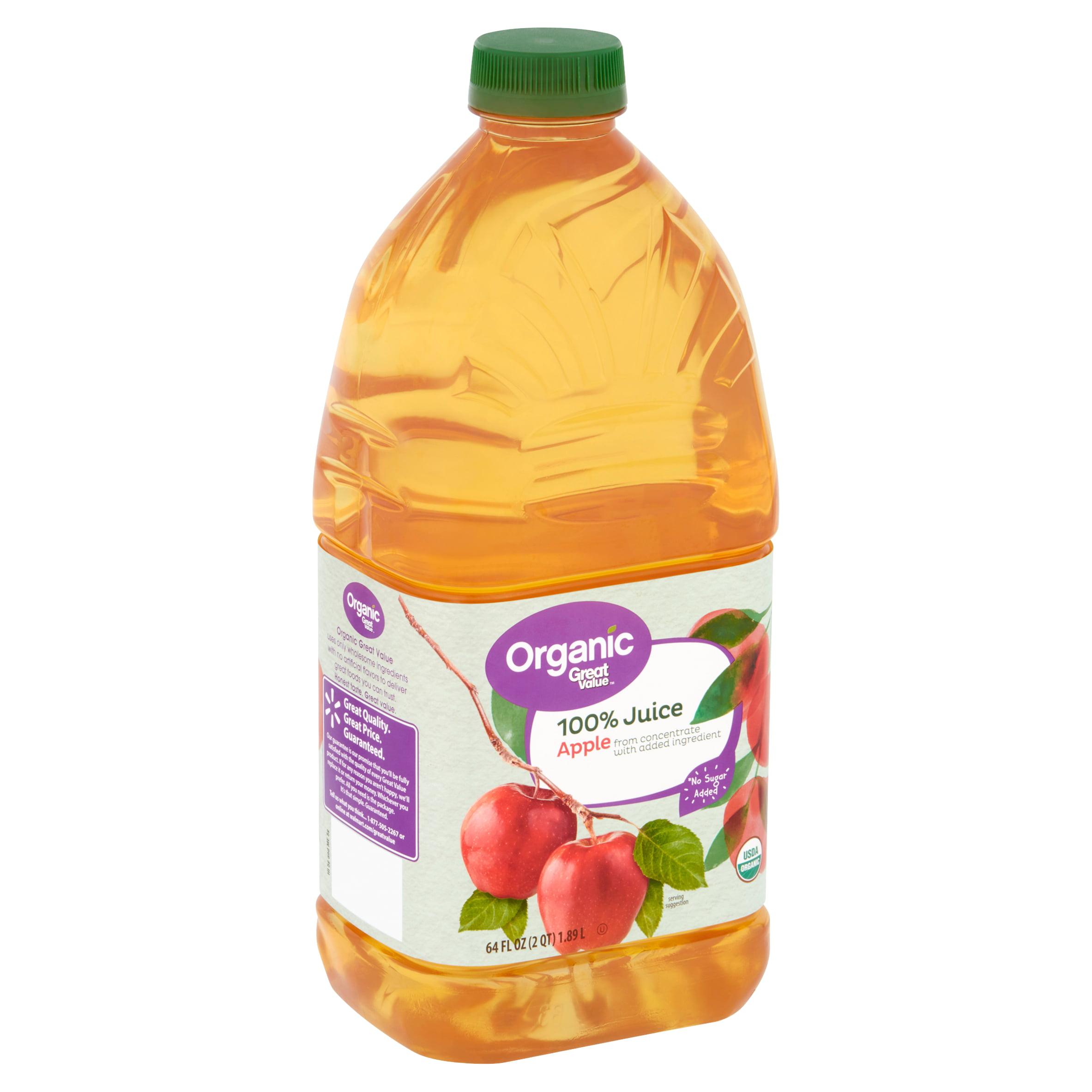 Great Value Organic Apple 100% Juice, 64 fl oz