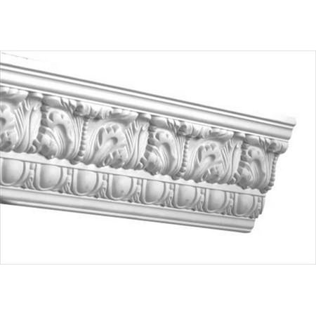 - American Pro Decor 5APD10081 96 x 4.5 in. Egg And Dart Acanthus Crown Moulding