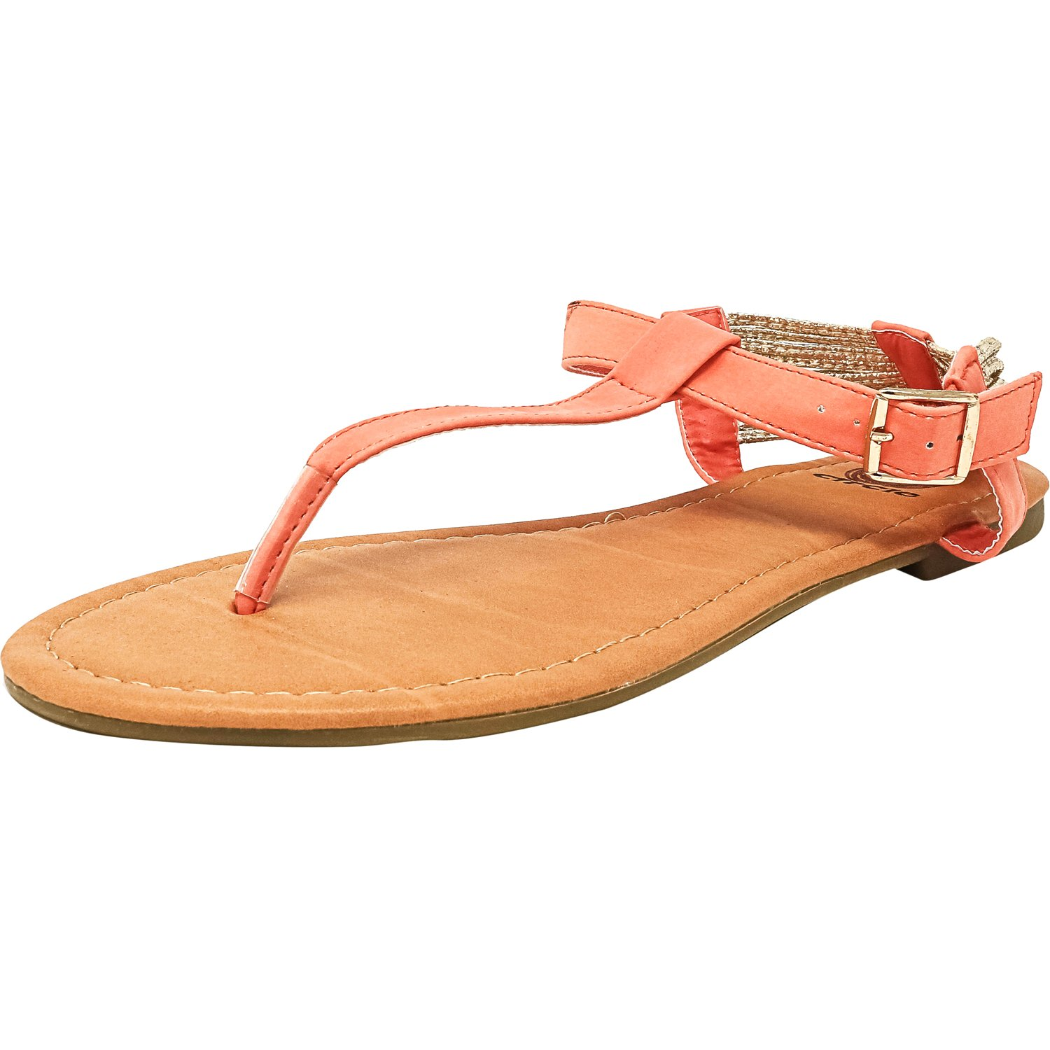 Red Circle Women's Flyer Coral Leather Sandal - 10M