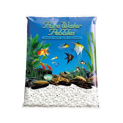 Pure Water Pebbles Aquarium Gravel 25-Pound Platinum White Frost (Pack of 1) by World Wide Imports Enterprise, Inc.