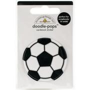 Doodlebug Doodle-Pops 3D Stickers-Goal!! Soccer Ball