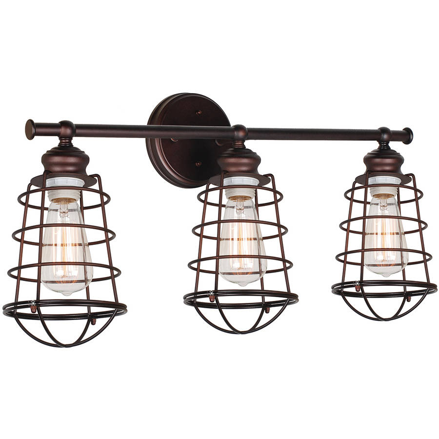 Design House 519736 Ajax 3-Light Bathroom Vanity Light, Coffee Bronze