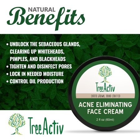 TreeActiv Acne Eliminating Face Cream,Tea Tree Jojoba & Vitamin E 2oz