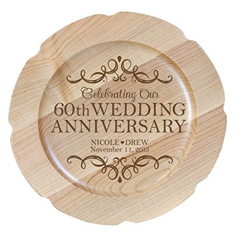 Personalized 60th Wedding Anniversary Plate Gift For Couple Custom