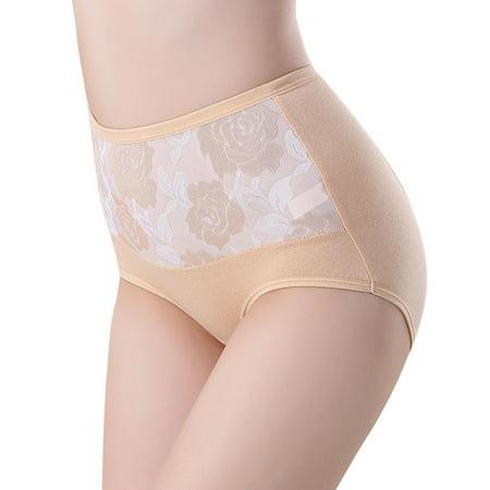 High Waist Cotton Women Briefs Sexy Healthy Panties Underwear Plus Size SK/XXL