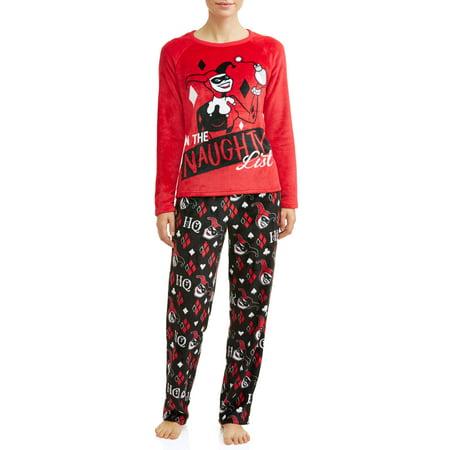 2764b9ffb932 Harley Quinn - Harley Quinn Women s and Women s Plus Pajama Set -  Walmart.com
