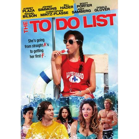 The To Do List (DVD) - Satanic Movies List