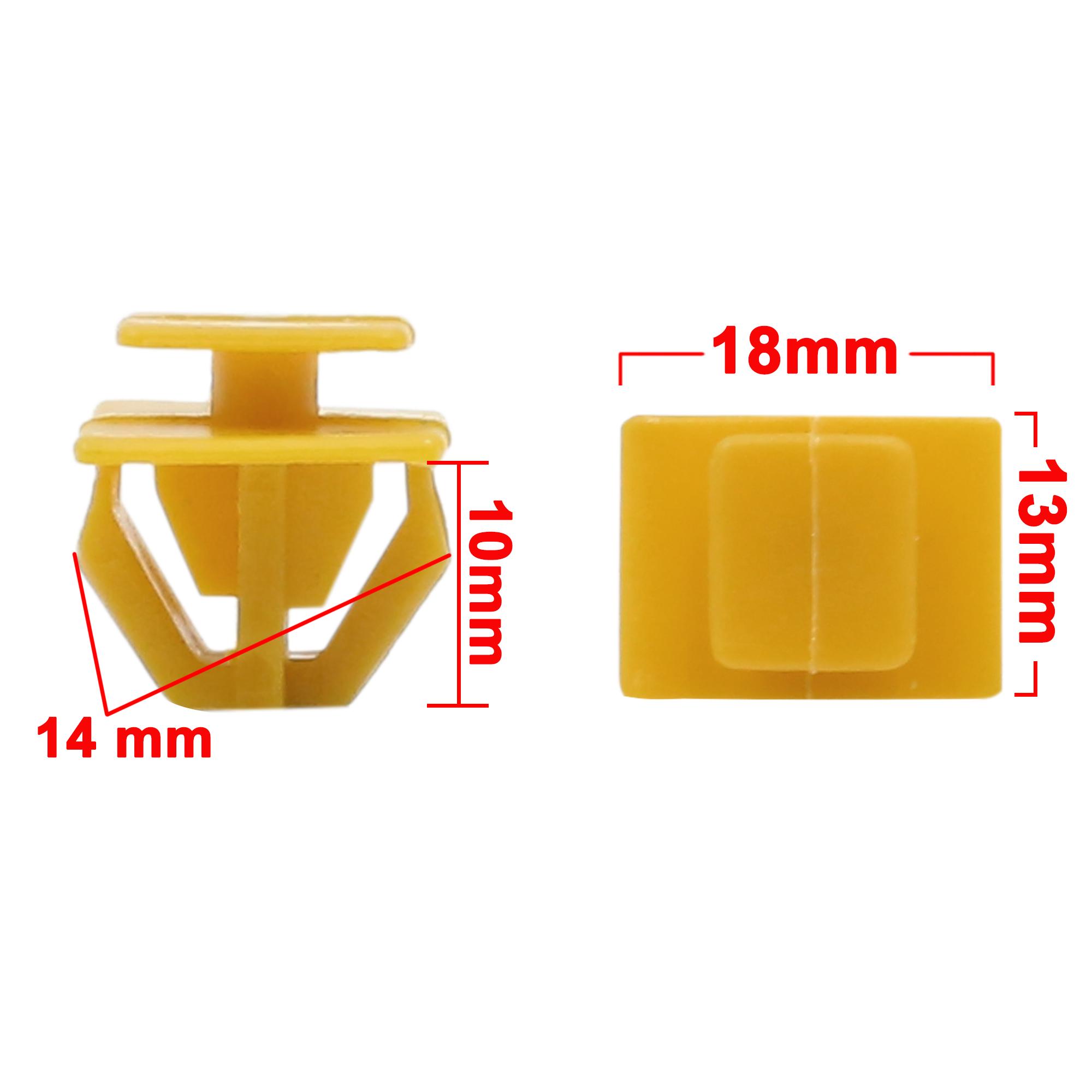 30pcs Yellow Car Trim Door Panel Retainers Bumper Fender Plastic Rivets Clips - image 1 of 2