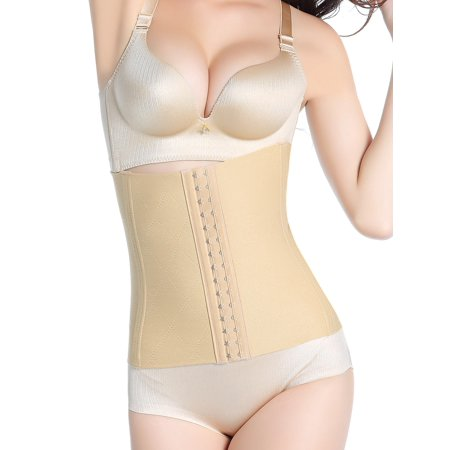 Womens Extra Firm Control Shapewear Waist Nipper Tummy Slimmer Underbust Waist Trainer Corset Cincher Body Shaper Girdle