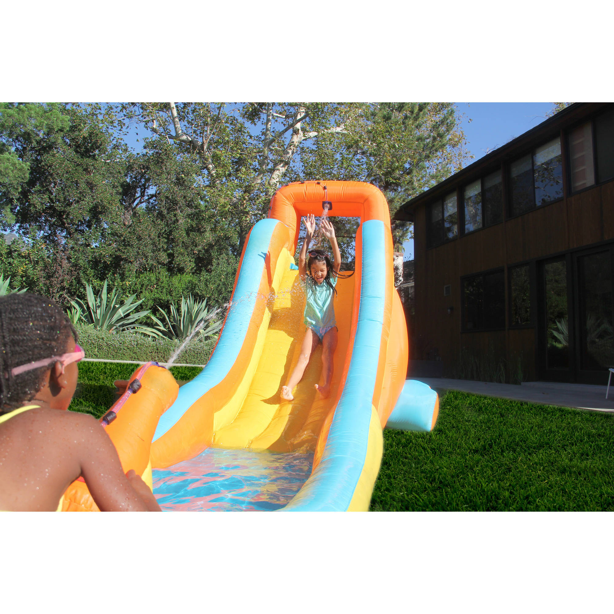 Inflatable Water Slide Kids Outdoor Backyard Splash Swimming Pool Fun Play New