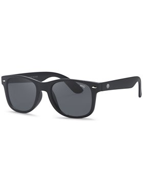 Hawaiian Island Creations Classic Active Kids Polarized Polycarbonate Sunglasses - Matte Black Frame / Smoke Lenses