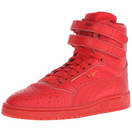 Puma Womens Sky II Hi Roses Leather Laces High Top Sneakers