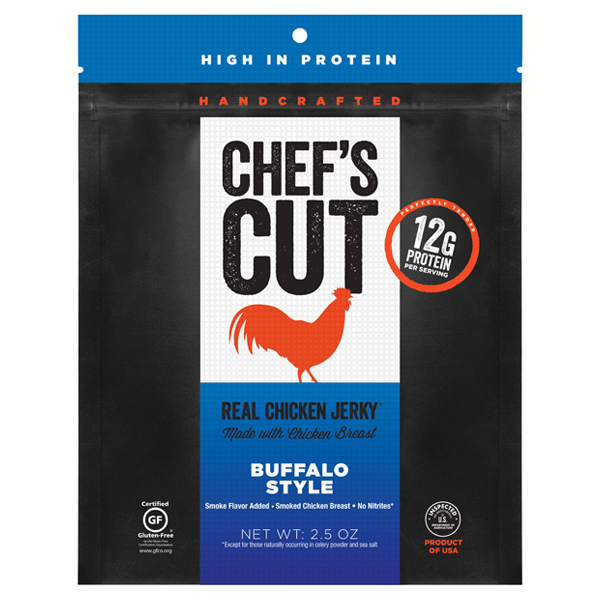 Chef's Cut Handcrafted Buffalo Style Real Chicken Jerky 2...