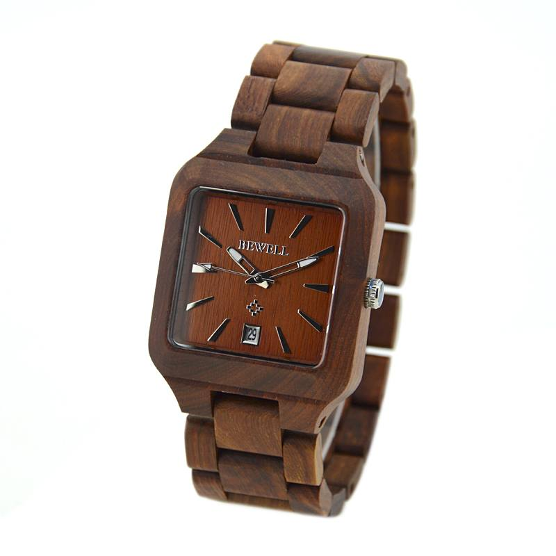 Bewell Men's Natural Wood Watch Made With Maple Wood