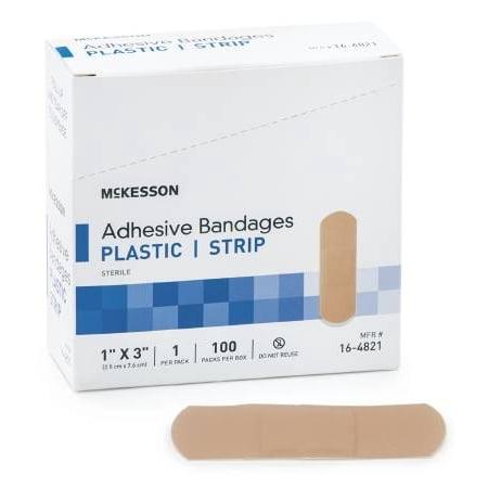 McKesson Medi Pak Performance Bandage Adhesive Fabric Strip 1