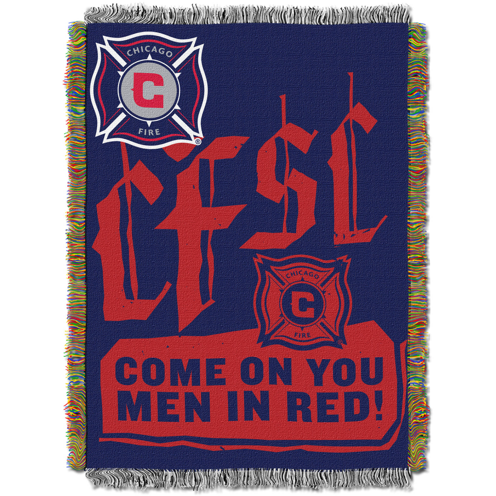 "MLS Chicago Fire Handmade 48"" x 60"" Woven Tapestry Throw"