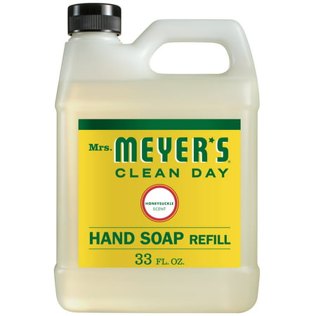 Organic Hand Soap ((2 pack) Mrs. Meyer´s Clean Day Hand Soap Refill, Honeysuckle, 33 Oz)