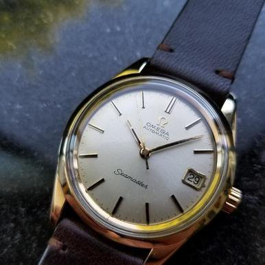 Omega Seamaster Vintage 1970s Gold Capped Swiss 35mm Mens Original Watch LV399