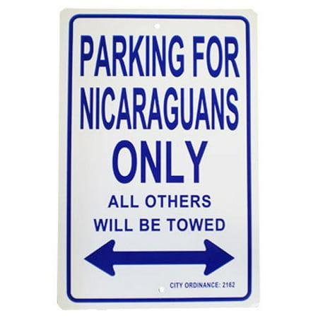 "Nicaragua - 12"" x 18"" Plastic Parking Sign"