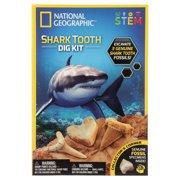 National Geographic Shark Teeth Digging Kit, STEM Toy Kit for Kids