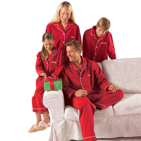 9509815132 Personalized Adult Men s Red Pajamas - Walmart.com