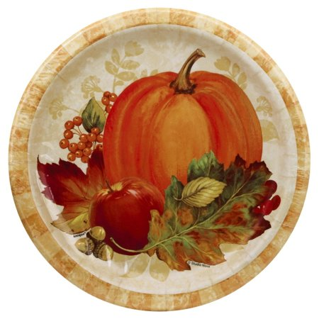 Pumpkin Harvest Fall Paper Plates, 9 in, 8ct