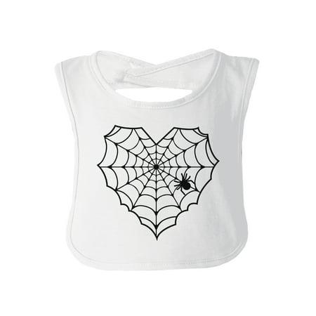 Heart Spider Web White Halloween Bib First Halloween Newborn Gift](Newborn Halloween Photo Ideas)