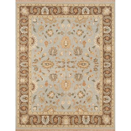 Darby Home Co Rickey Hand Woven Wool Aqua Brown Area Rug