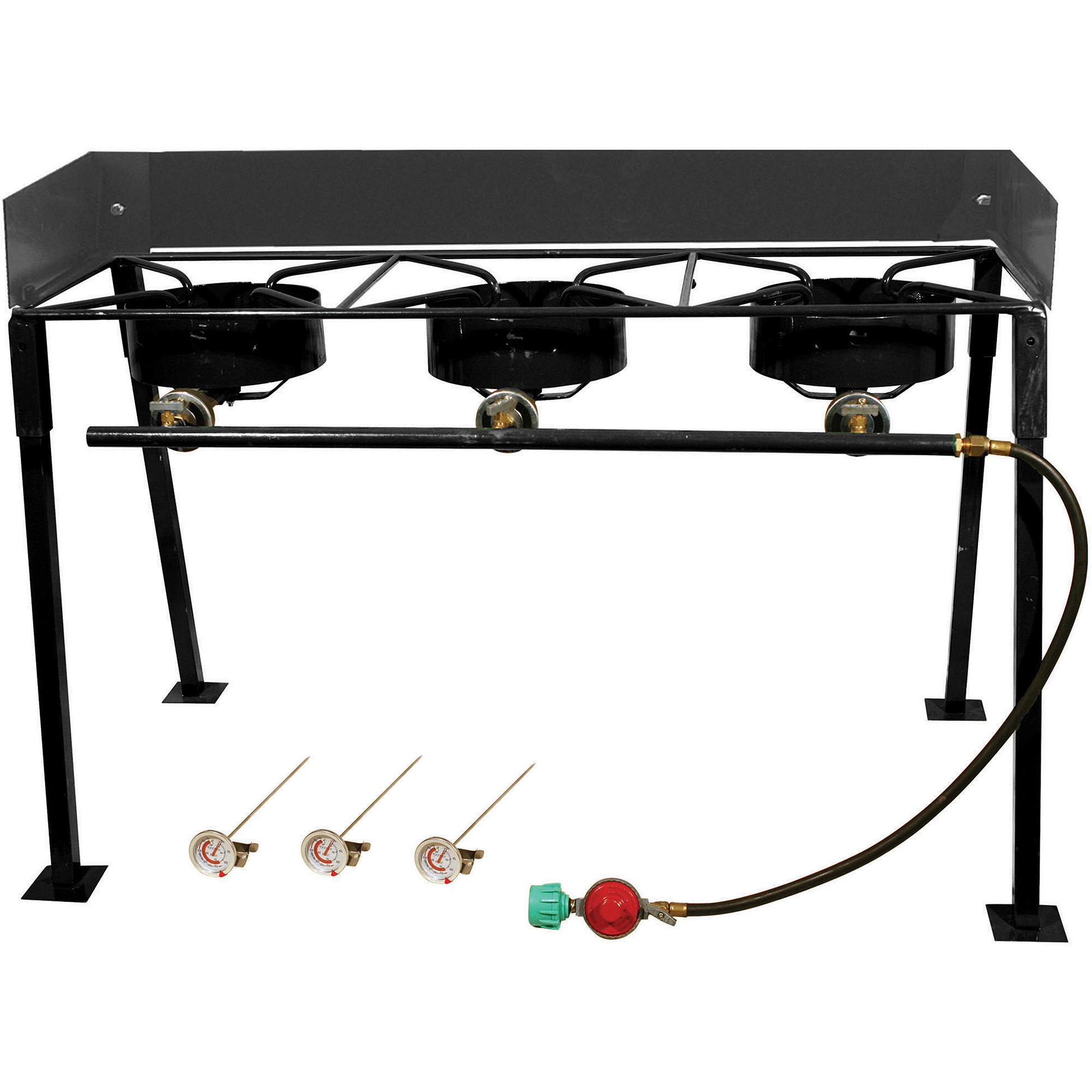 King Kooker Portable Propane 3-Burner Outdoor Camp Stove with Detachable Legs by Metal Fusion, Inc.
